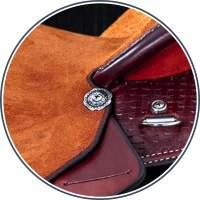 Saddle Component - Silver Conchos