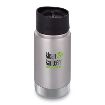 Kleen Kanteen, 12oz (355ml) Wide Insulated Café Cap Brushed Stainless