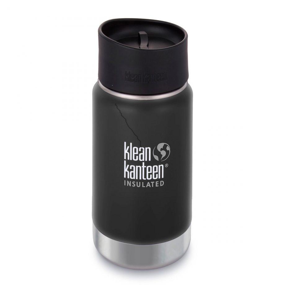 Kleen Kanteen, 12oz (355ml) Wide Insulated Café Cap Shale Black