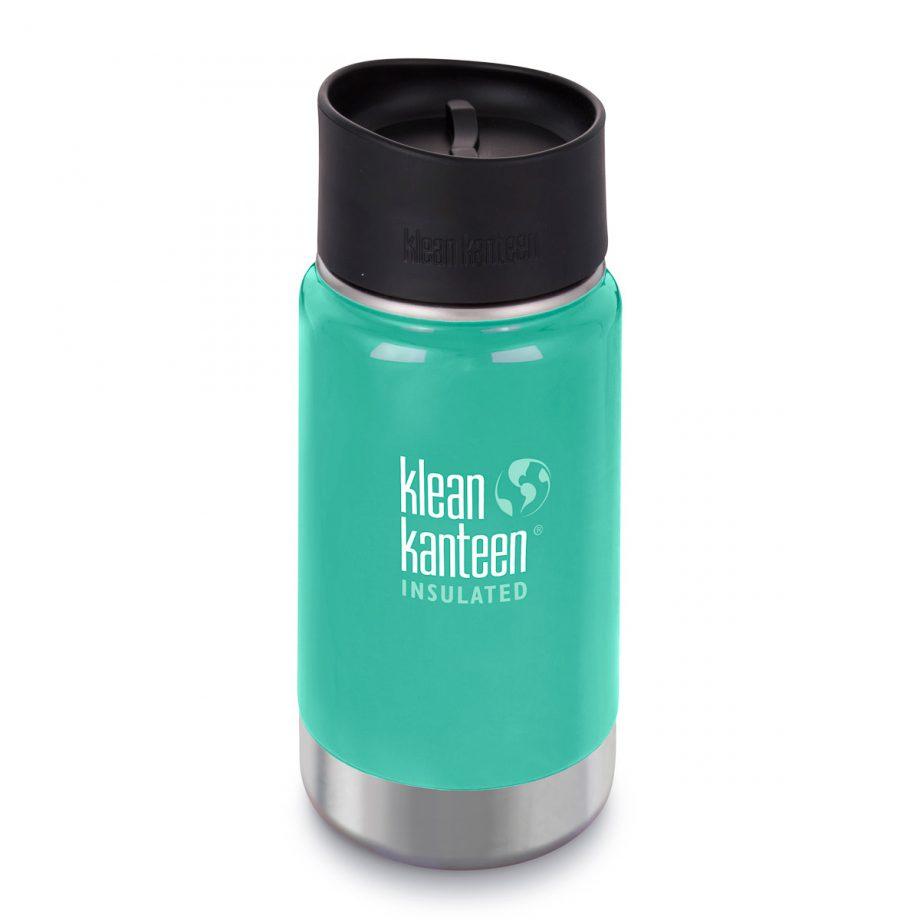 Kleen Kanteen, 12oz (355ml) Wide Insulated Café Cap Sea Crest