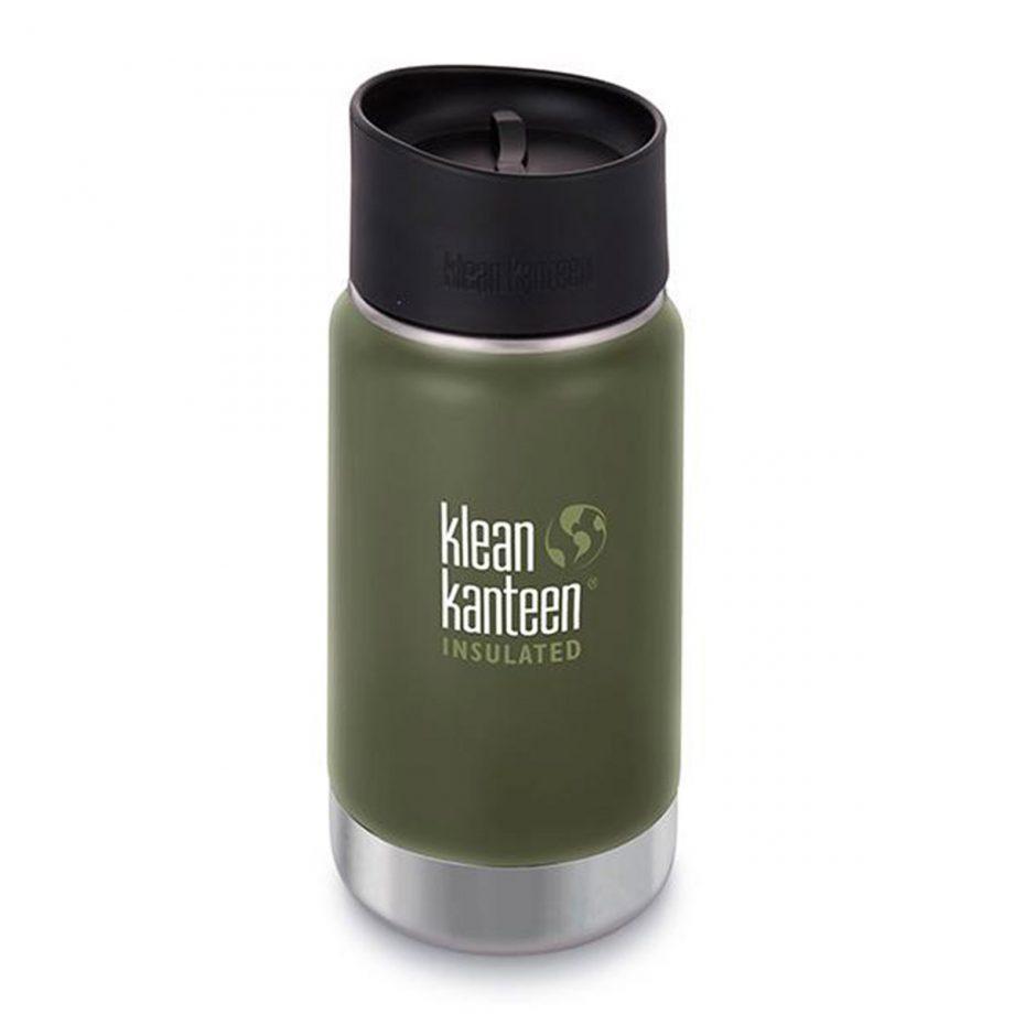 Kleen Kanteen, 12oz (355ml) Wide Insulated Café Cap Fresh Pine