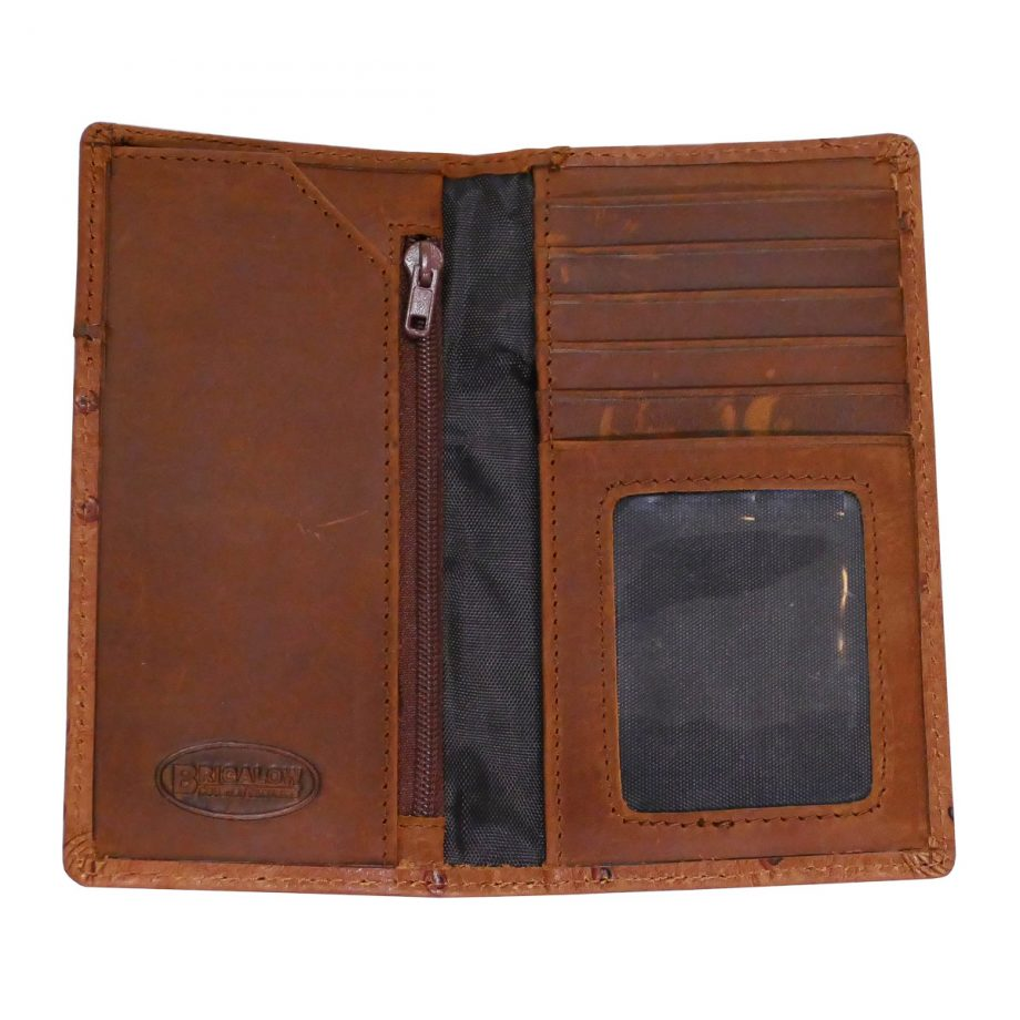 Wallet, Solid Leather, Kids, Ostrich, Brigalow Brand 2