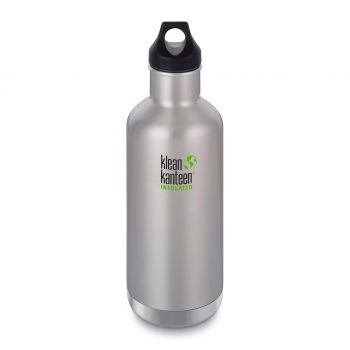 Kleen Kanteen, 32oz (946ml) Insulated Classic Loop Brushed Stainless