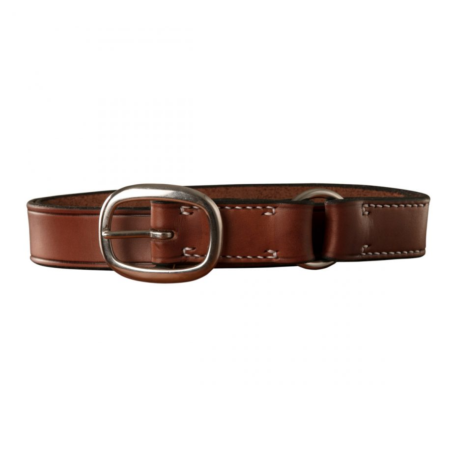 Stockmans Belt, Solid Leather, with Stainless Steel Swage Buckle and Ring 1