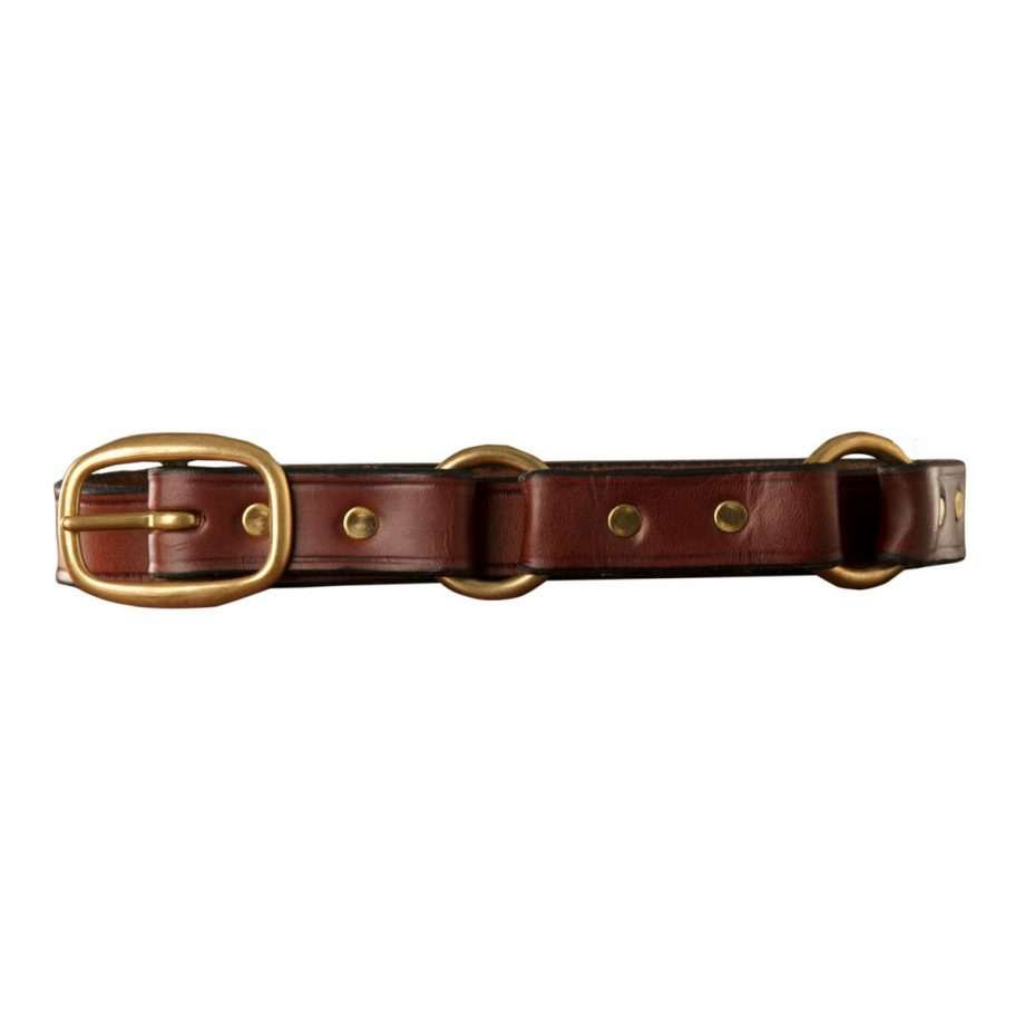 "1"" (25mm) Kids Stockman Belt, Swage Buckle, Brass, 2 Rings 1"