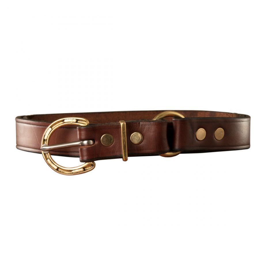 "1"" (25mm) Kids Stockman Belt, Horseshoe Buckle, Brass, 1 Ring 1"