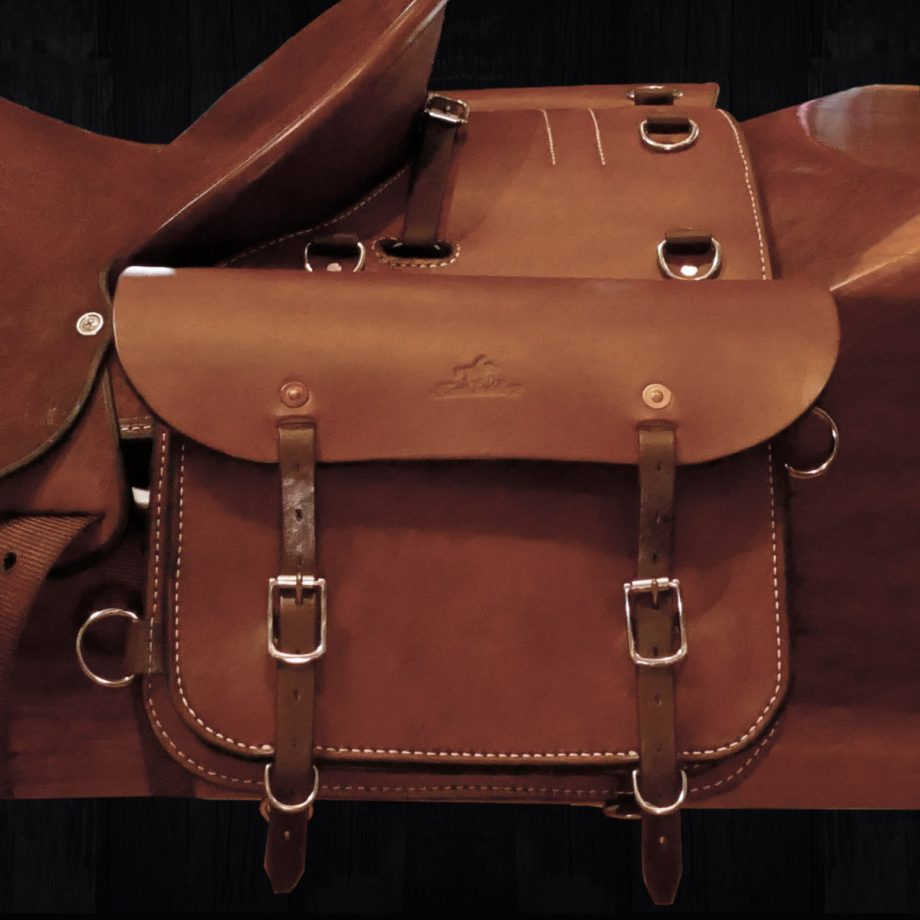 """The Trail Rider"" Double Saddle Bags, Solid Leather 1"