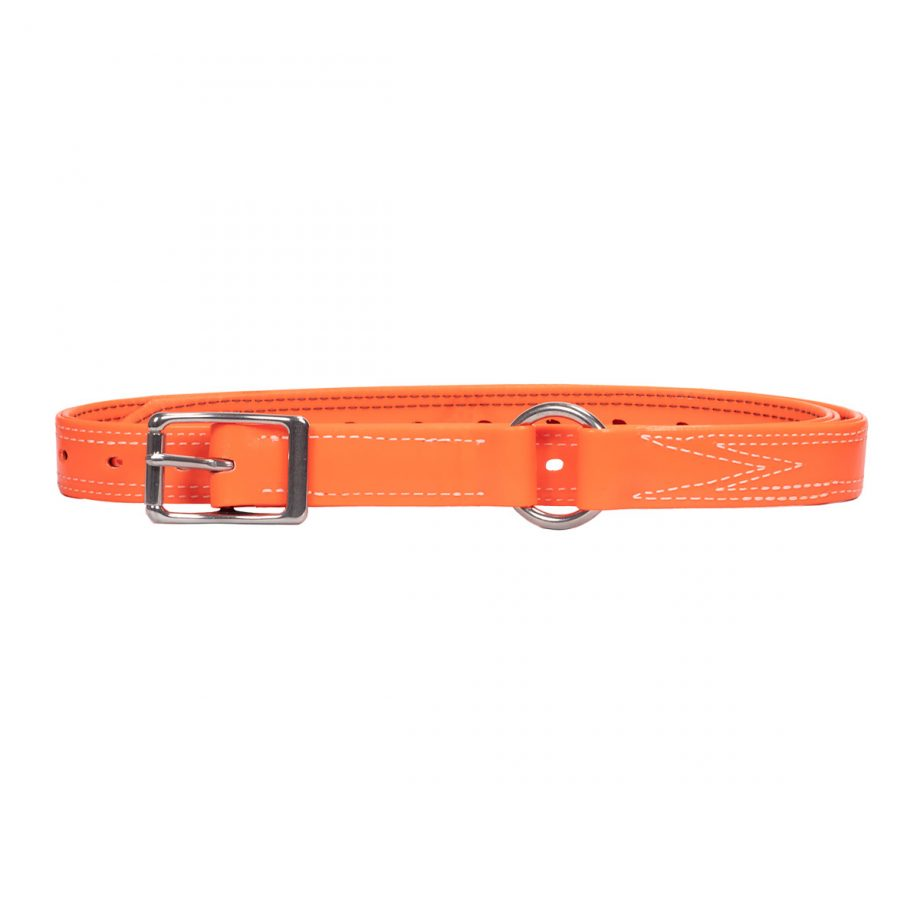 Bull Strap, Fluro Orange PVC, with Ring 1