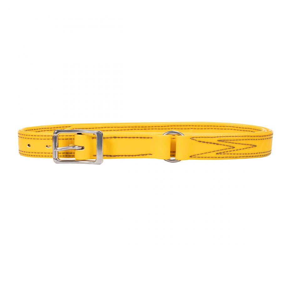 Bull Strap, Yellow PVC, with Ring 1