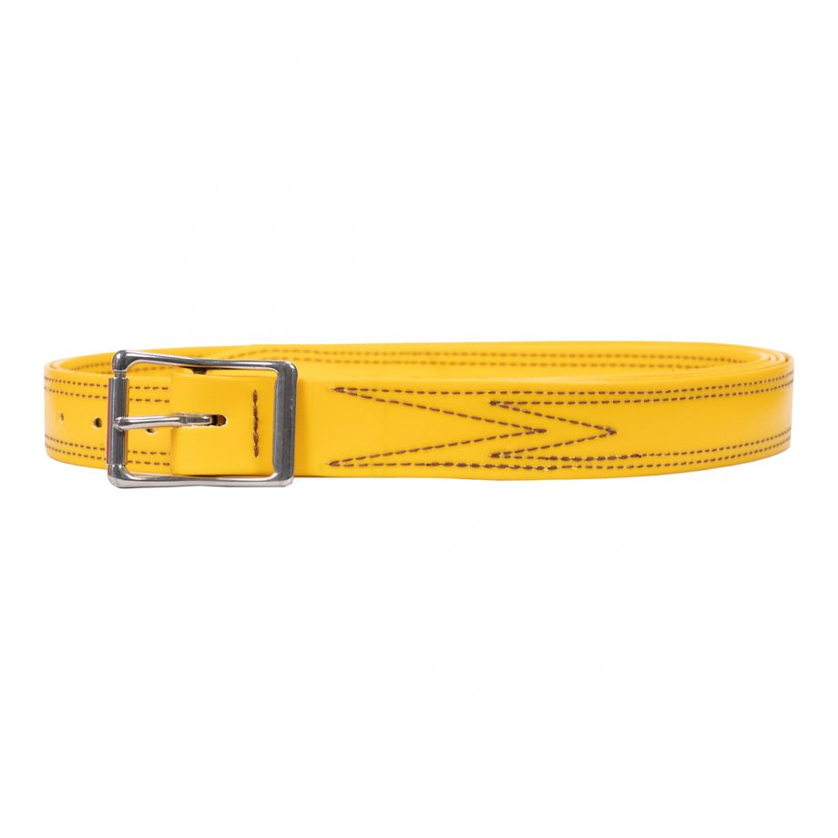 Bull Strap, Yellow PVC, No Ring 1