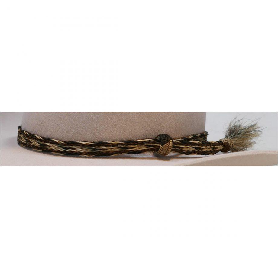 Hatband, Horse Hair, 5 Strand, Single Tassle 1