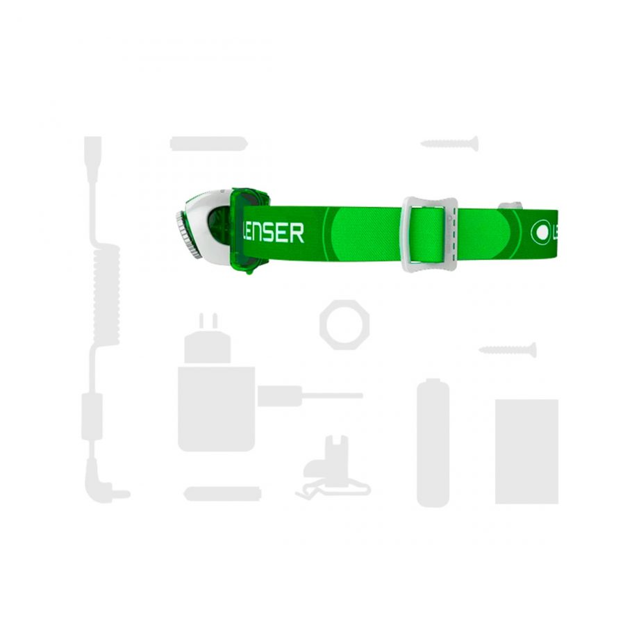 Head Lamp, SE03, Green 3